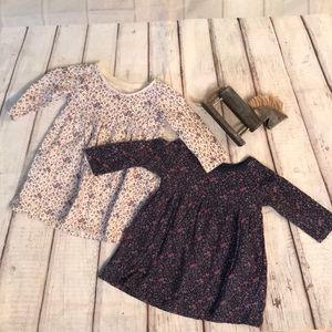2 floral dresses for baby